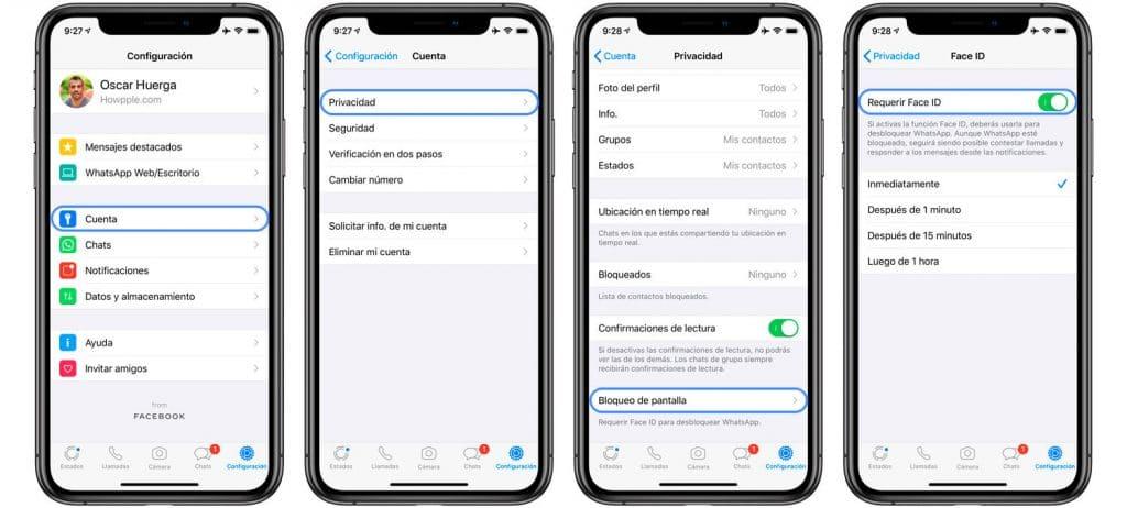 proteger conversaciones de WhatsApp