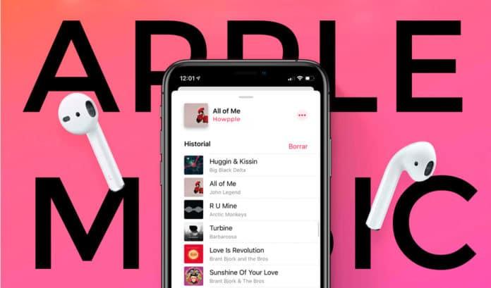 Cómo ver el historial de canciones en Apple Music