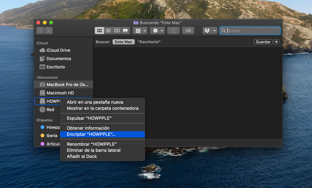 encriptar memoria USB en Mac