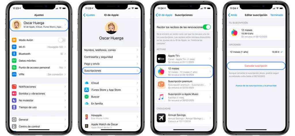Cómo cancelar una suscripción en iOS desde el iPhone, iPad o iPod Touch