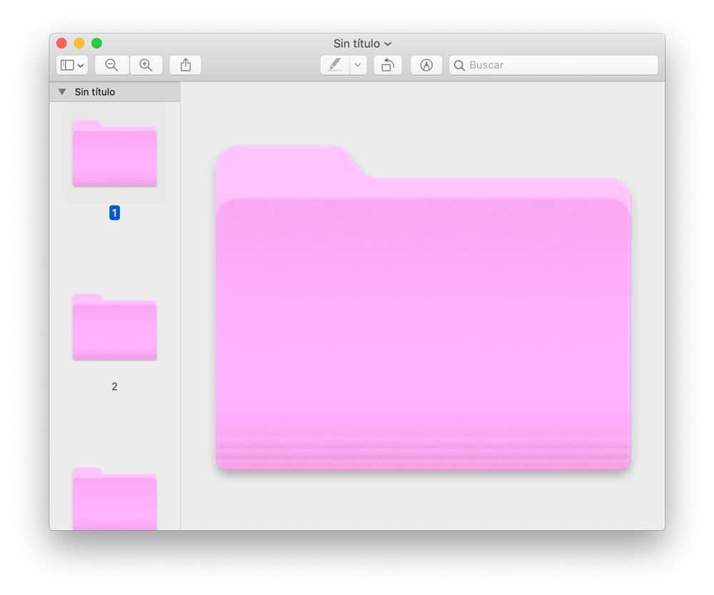 color cambiado de una carpeta en macOS