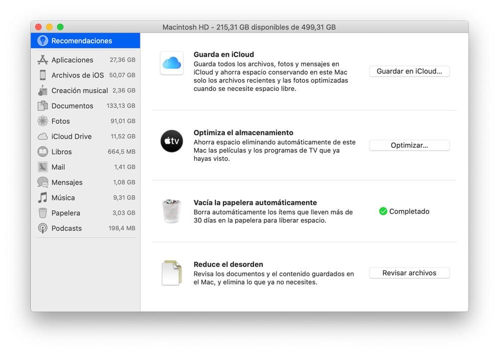 Cómo usar el gestor de almacenamiento en macOS para recuperar espacio en Mac