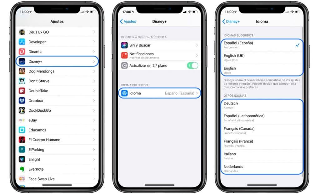 cambiar el idioma de una aplicación en iPhone y iPad