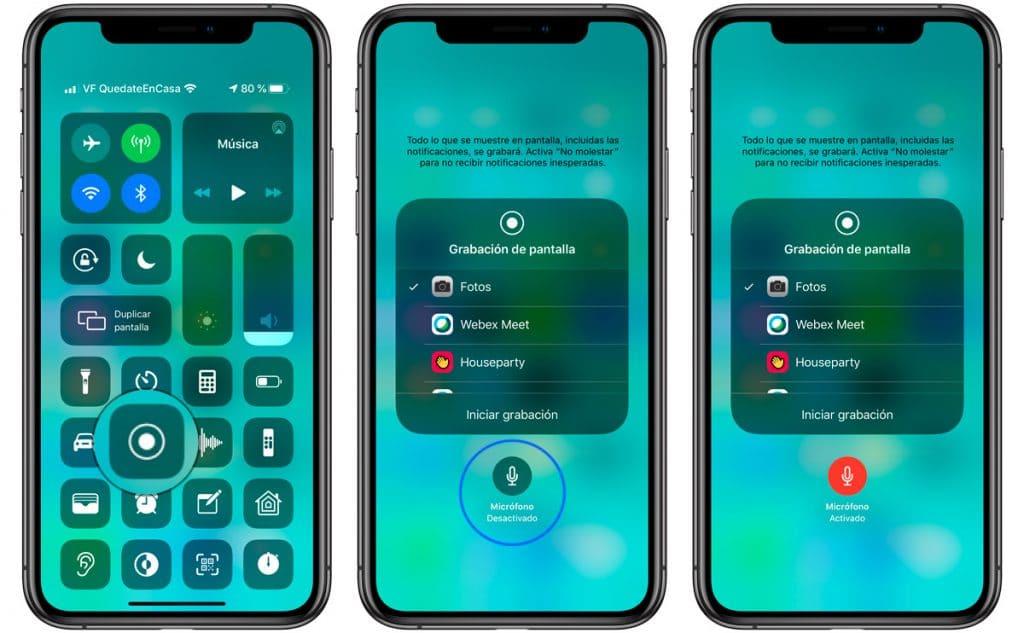 Descubre grabar la pantalla del iPhone con sonido con este truco iPhone