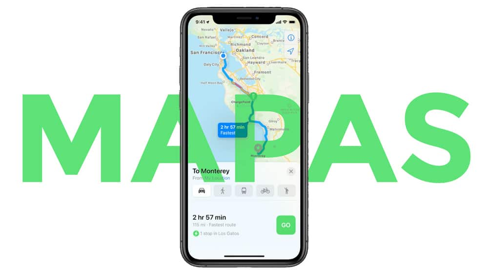 Mapas de Apple en iOS 14