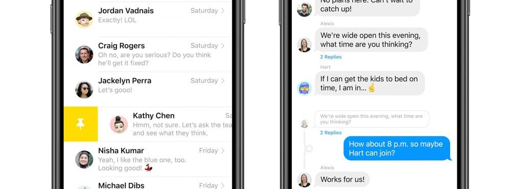 Mejoras de mensajes en iOS 14