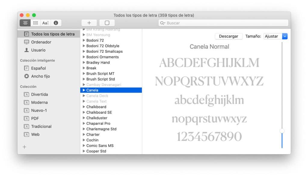 Aprende cómo instalar nuevas fuentes macOS Catalina