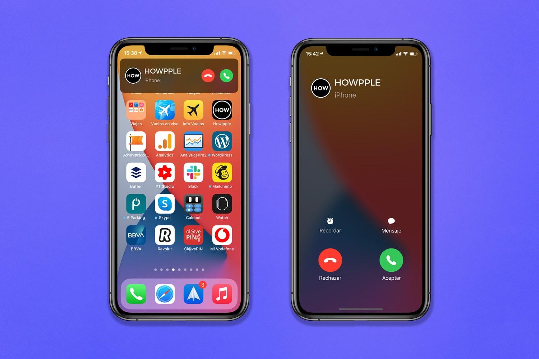 notificación de llamadas a pantalla completa en iOS 14