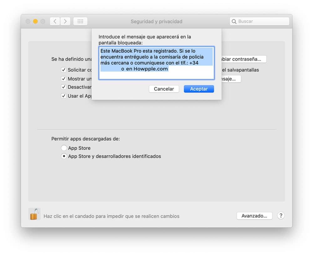 Cómo añadir un mensaje al inicio de sesión en macOS