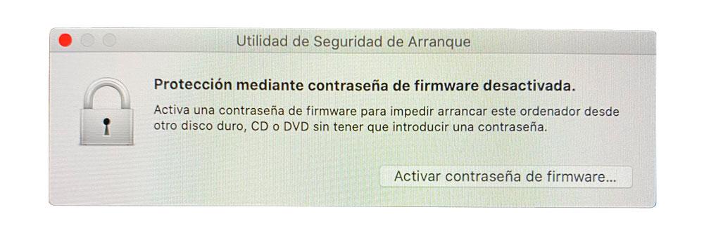 Proteger equipos Mac con utilidad de seguridad de arranque