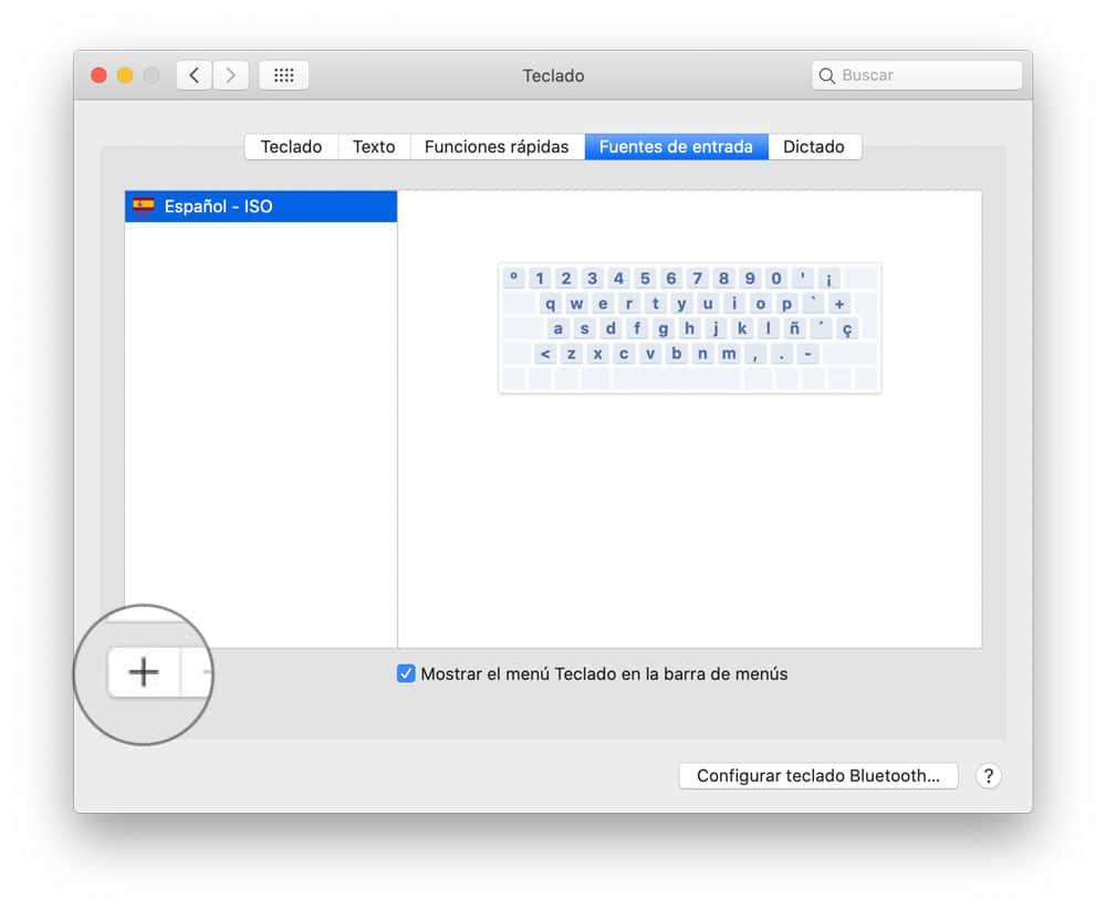 Añadir idiomas al teclado en MacOS