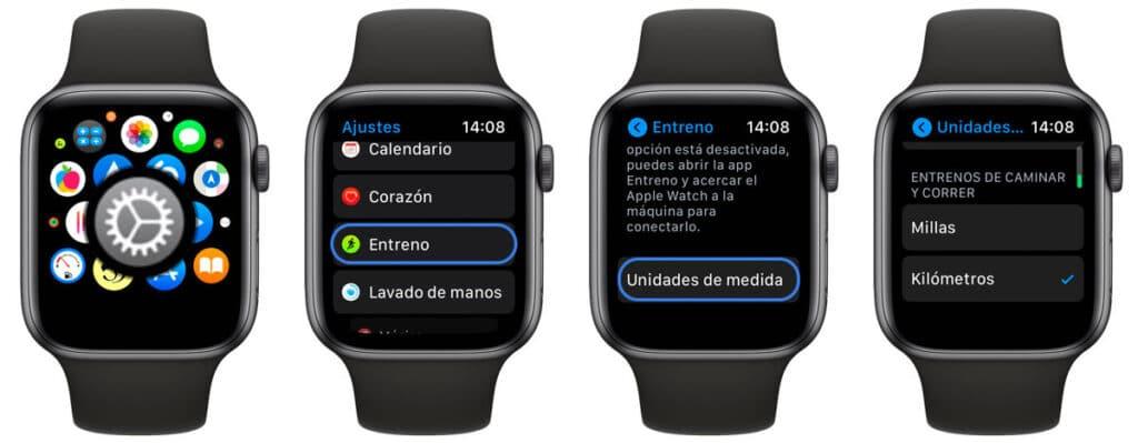 Cómo cambiar las unidades de medida de nuestros entrenos en Apple Watch - Guia Apple Watch