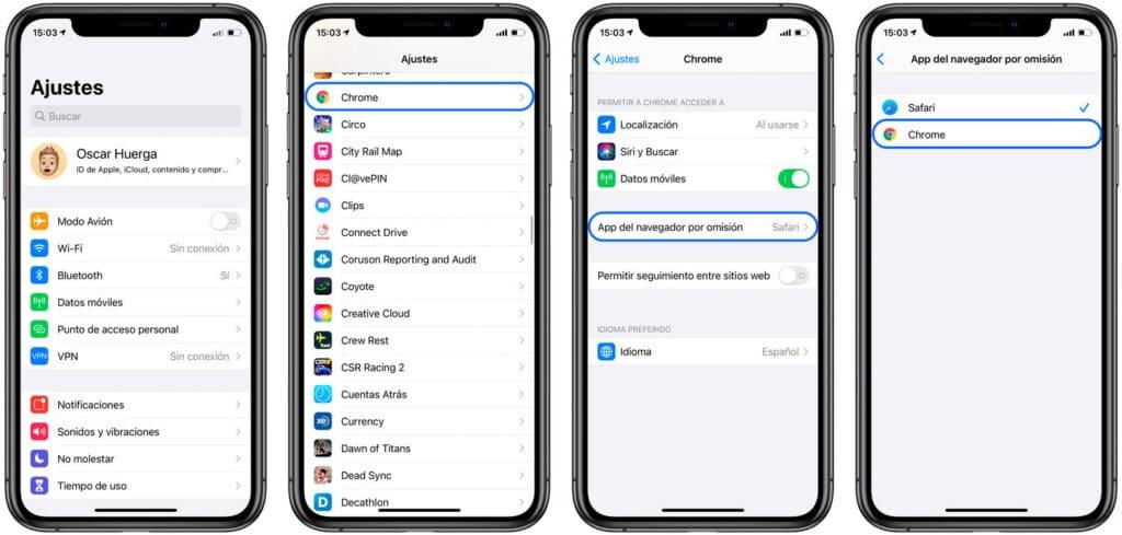 Pasos para cambiar el navegador por defecto en iPhone o iPad