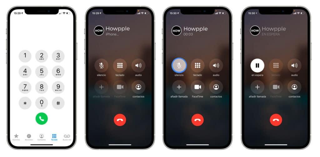 cómo poner una llamada en espera en iPhone