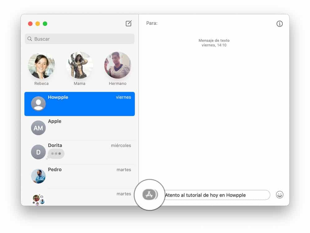 efectos de mensajes en Mac