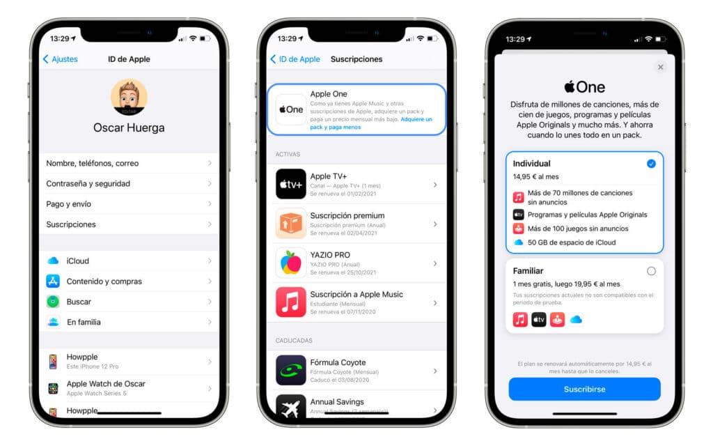 Cómo  suscribirse a Apple One desde el iPhone o el iPad