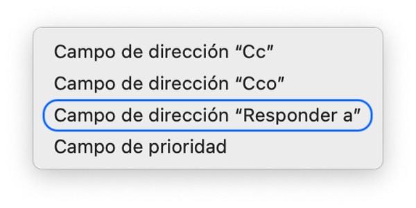 Responder mail a en mail para macOS