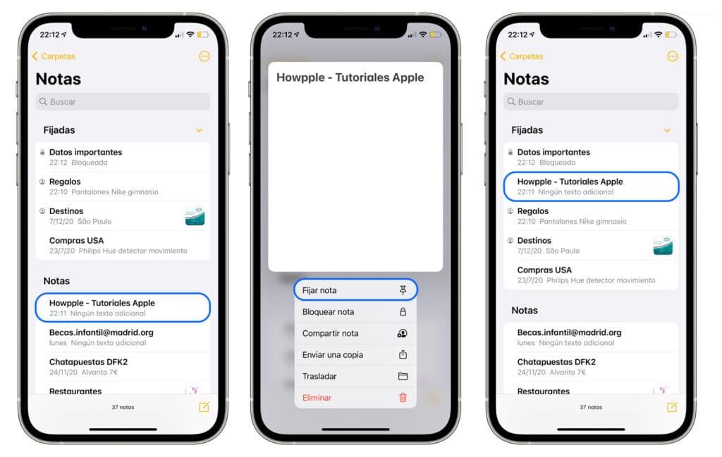 Cómo cambiar el estilo de papel de la app notas en iPhone y iPad