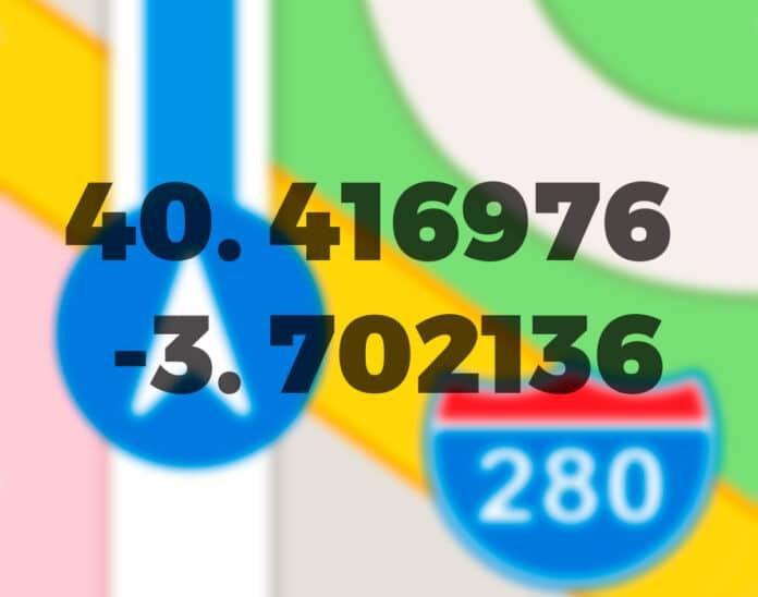 Cómo ver las coordenadas en mapas de apple