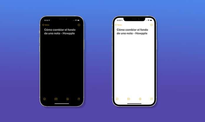 Cómo cambiar el fondo de la app notas en iPhone y iPad