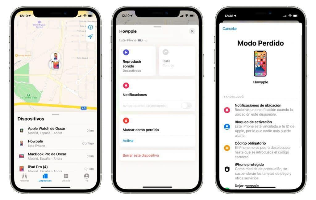 eliminar tarjetas de Apple Pay usando la app buscar de Apple