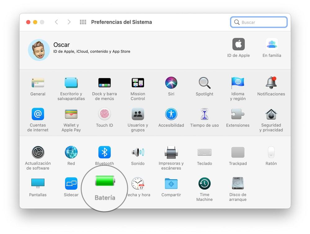 Preferencias macOS apagar mac automaticamente