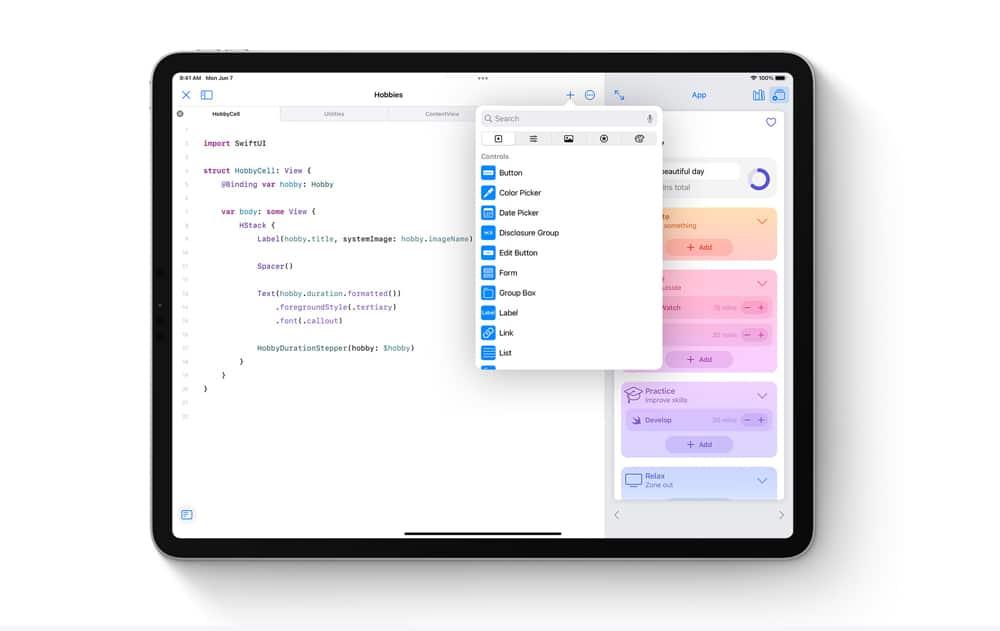 Swift Playgrounds llega a iPadOS 15