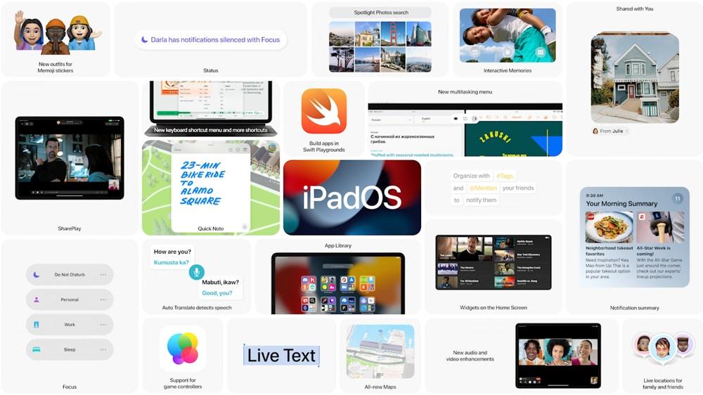 Novedades y mejoras de iPadOS 15