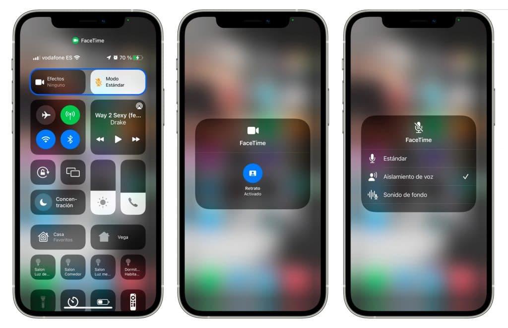 Efectos FaceTime en iOS 15