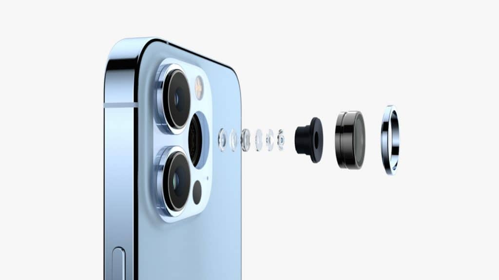 Lentes de las cámaras del iPhone 13 Pro y iPhone 13 Pro Max
