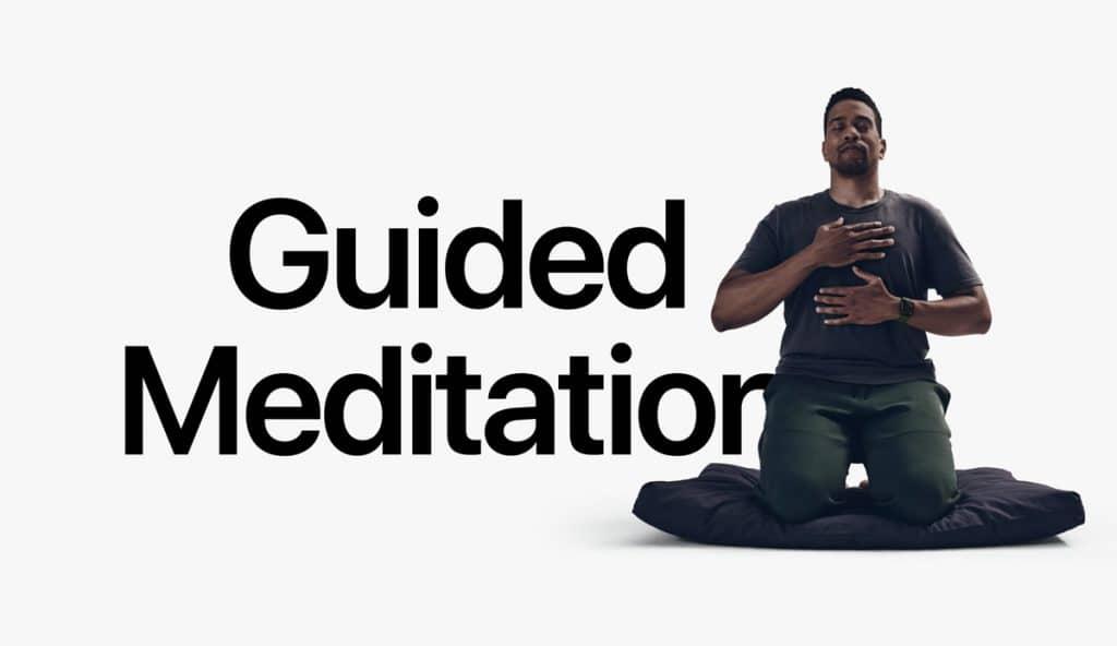 Meditación guiada fitness+ de apple