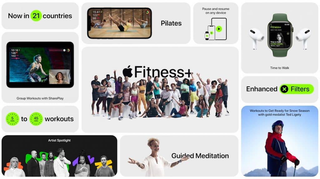 novedades de Fitness+ de apple