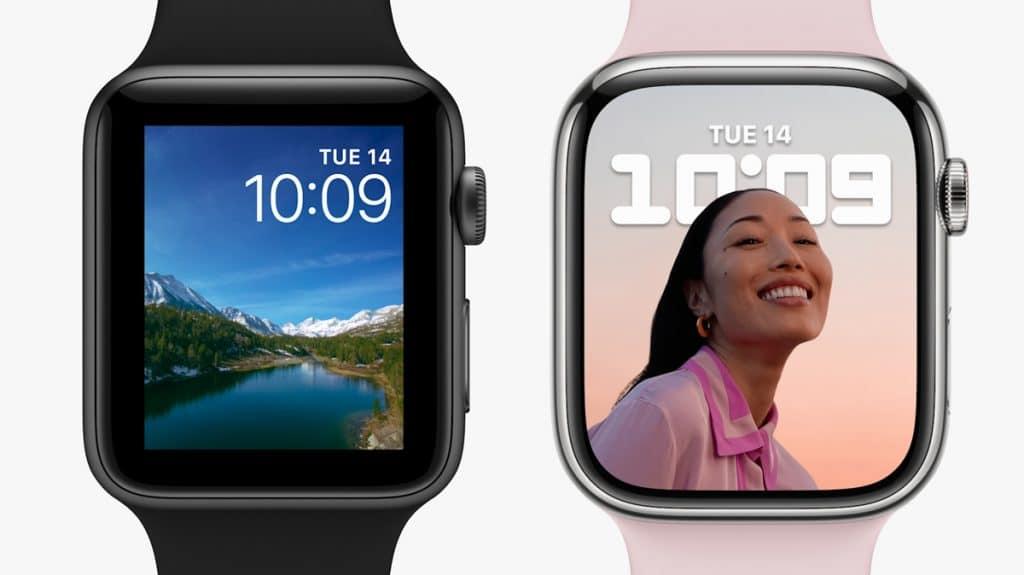 Pantalla Apple Watch 7 Vs Apple Watch Series 3